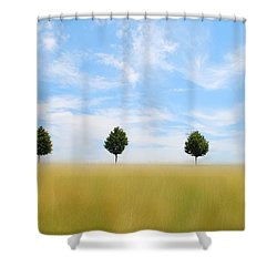 Allee  03 Shower Curtain by Hannes Cmarits