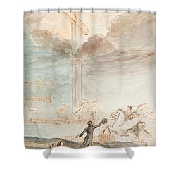 Allegory   Knowledge Versus Orthodox Religion Shower Curtain by Auguste Hervieu