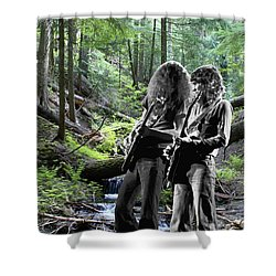 Shower Curtain featuring the photograph Allen And Steve On Mt. Spokane 2 by Ben Upham