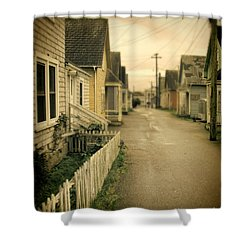 Alley And Abandoned Houses Shower Curtain by Jill Battaglia