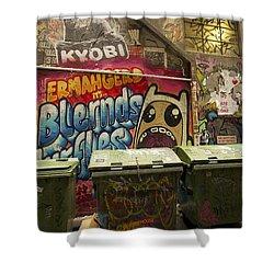 Alley Graffiti Shower Curtain by Stuart Litoff