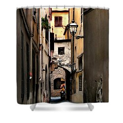 Alley In Florence 1 Shower Curtain by Jennie Breeze