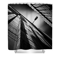 Alley Lamp Shower Curtain by Dave Bowman