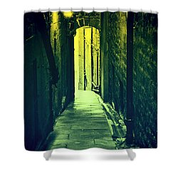 Shower Curtain featuring the photograph Alleyway by Craig B