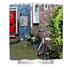 Shower Curtain featuring the photograph Alleyway In Dutch Village by Joe  Ng