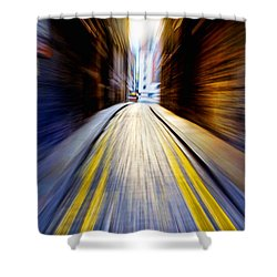 Alleyway With Motion Shower Curtain