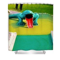 Alligator Shower Curtain by Lanjee Chee