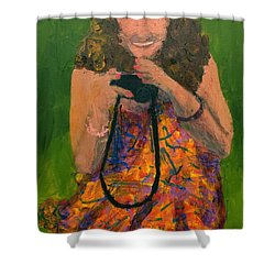 Shower Curtain featuring the painting Allison by Donald J Ryker III