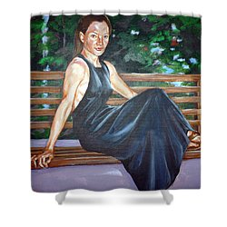 Shower Curtain featuring the painting Allison Two by Bryan Bustard
