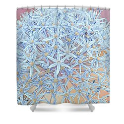 Shower Curtain featuring the digital art Allium Bursting by Susan  McMenamin