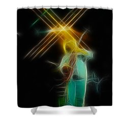Allman-dickie-95-ga14a-fractal Shower Curtain by Gary Gingrich Galleries