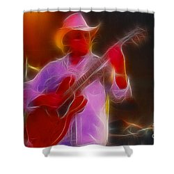 Allman-dickie-95-gb21-fractal Shower Curtain by Gary Gingrich Galleries