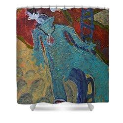 Allmarine Shower Curtain by Nancy Mauerman