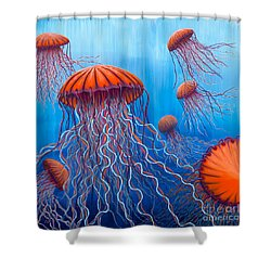 Ally's Orange Jellies Shower Curtain