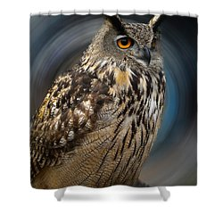 Almeria Wise Owl Living In Spain  Shower Curtain by Colette V Hera  Guggenheim