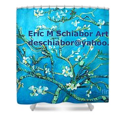 Almond Blossom Branches Shower Curtain by Eric  Schiabor