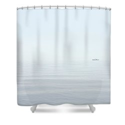 Almost Invisible Shower Curtain by Karol Livote