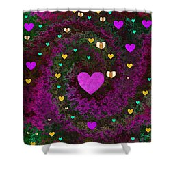 Almost Mandelbrot Shower Curtain by Pepita Selles