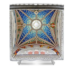 Almudena Cathedral Interior Shower Curtain by Jenny Hudson