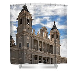 Almudena Cathedral Shower Curtain by Joan Carroll
