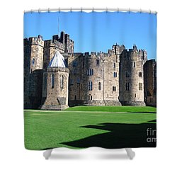 Shower Curtain featuring the photograph Alnwick Castle Castle Alnwick Northumberland by Paul Fearn