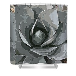 Aloe Vera Abstract Shower Curtain by Christiane Schulze Art And Photography
