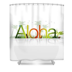 Aloha - Hawaii Shower Curtain by Aged Pixel