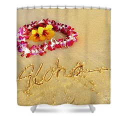 Shower Curtain featuring the photograph Aloha Lei by Kristine Merc