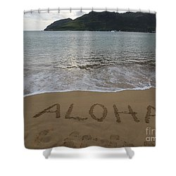 Aloha On The Beach Shower Curtain