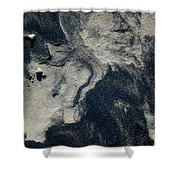 Shower Curtain featuring the photograph Alone Again by Christiane Hellner-OBrien