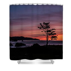 Alone At Sunset Shower Curtain