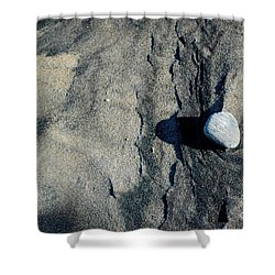 Shower Curtain featuring the photograph Alone by Christiane Hellner-OBrien