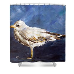 Alone Shower Curtain by Dorothy Maier