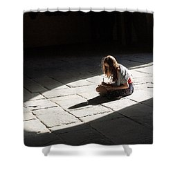 Shower Curtain featuring the photograph Alone In A Pool Of Light by Alex Lapidus