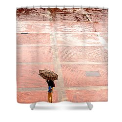 Alone In The Rain Shower Curtain by Michal Bednarek