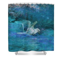 Alone Shower Curtain by Jack Zulli
