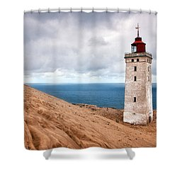 Lighthouse On The Sand Hils Shower Curtain