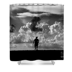 Alone Shower Curtain by Stelios Kleanthous