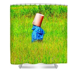 Alone With My Thoughts Shower Curtain by Newel Hunter