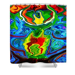 Along Came A Spider Shower Curtain by Omaste Witkowski