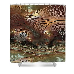 Along The Banks Shower Curtain