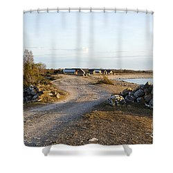 Shower Curtain featuring the photograph Along The Coast by Kennerth and Birgitta Kullman