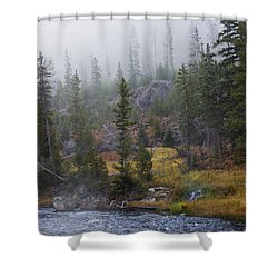 Along The Gibbon In Fall Shower Curtain