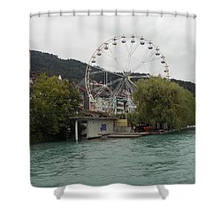Along The River In Thun Shower Curtain