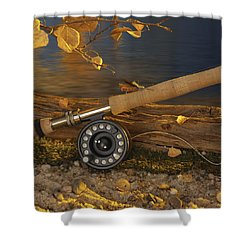 Along The Stream Shower Curtain by Jerry McElroy
