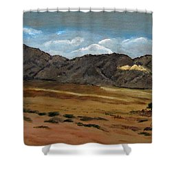 Along The Way To Eilat Shower Curtain by Linda Feinberg