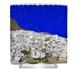 Alora Malaga Spain At Twilight Shower Curtain