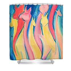 Alpaca Flames Shower Curtain