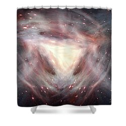 Alpha And Omega Shower Curtain by Bill Stephens