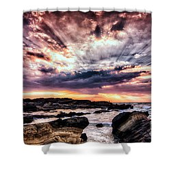 Alpha And Omega Shower Curtain by John Swartz